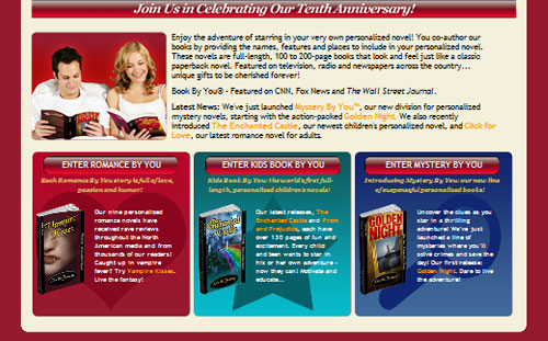 Book By You Homepage